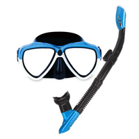 Wide View Easy Breath Water Sports Accessories With Tube Anti Fog Men Women Snorkeling Goggles Set Diving Mask Adult Two Pieces