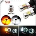 (2) No Hyper Flash BAU15S 7507 SAMSUNG Blanco/Ámbar Switchback Bombillas LED Para Las Luces de Circulación Diurna/Señales de giro
