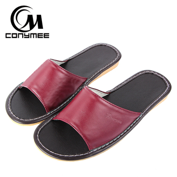 Female Home Indoor Slippers Flip Flops Summer 2019 Leather Sandals Beach Slippers Non-slip Men Women Casual Shoes Bath Slippers
