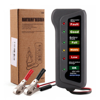 New 12V Car Motorcycle Battery Alternator Tester With 6 LED Lights Display Universal Battery Testing Tool