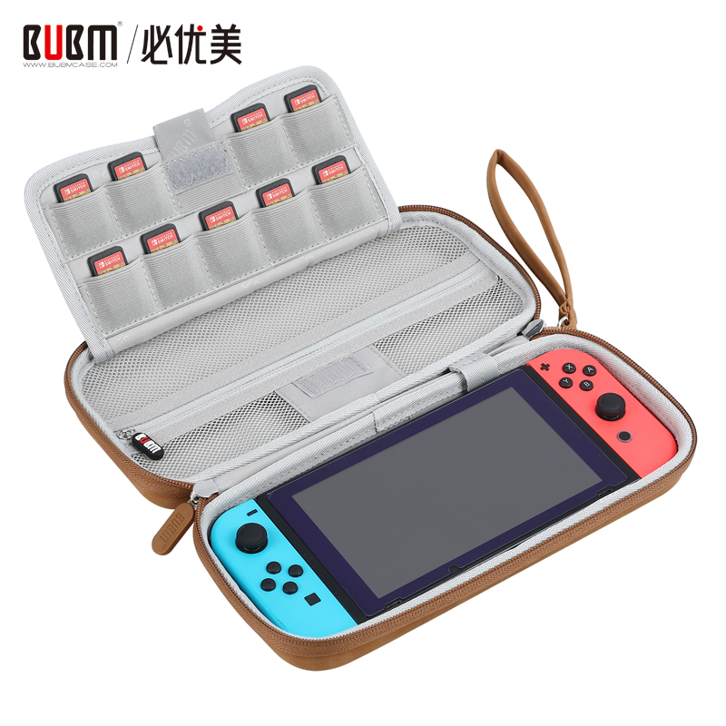 BUBM hard shell case for SWITCH game console case bag portable travel carrying storage bag with game cards slot position