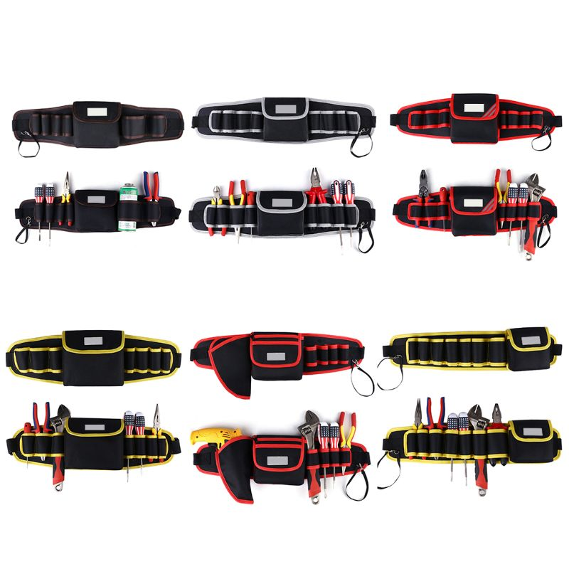 Tool Bag With High Quality Tool Belt Cover For Screwdriver Bag Adjustable Waist Tool Holder Electric Drill Bag