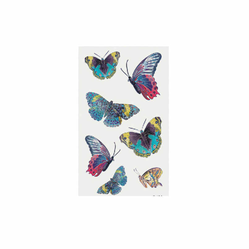 ISHOWTIENDA Hot Sale Temporary Tattoo Stickers Body Art Waterproof Butterfly fake tattoo tatouage temporaire femme 1/5/10PCS