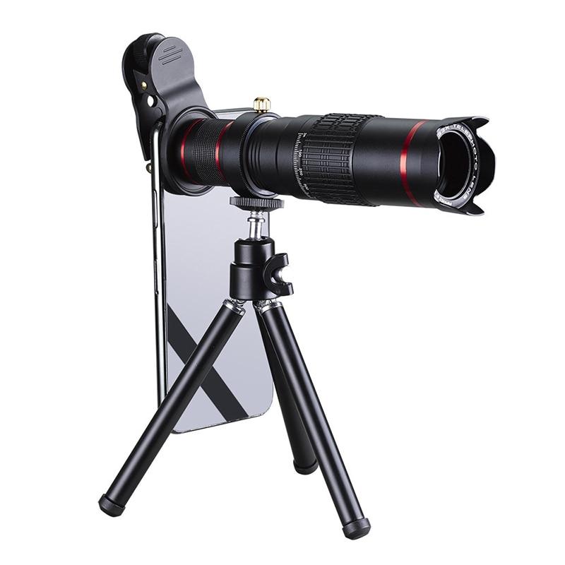 Image 2 - 4K HD Мобильный телефон телеобъектив Универсальный зум 15x 22x Монокуляр телескоп Лупа Телескопический Spyglass для цифровой камеры-in Телескоп и бинокли from Орудия