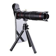 Lente teleobjetivo 4K HD para teléfono móvil, Zoom óptico Universal, telescopio Monocular de 22x, prismáticos, lupa telescópica, Spyglass/trípode