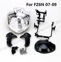 Motorcycle HEADLIGHT MIRROR BRACKETS SET HEAD LIGHT ASSEMBLY FOR YAMAHA FZ6N 2007 2008 2009
