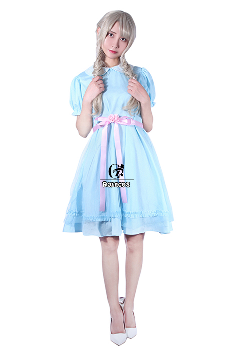 1702f75f9dc ROLECOS The Shining Twins Cosplay Costume Girl Lolita Dress Kid Halloween  Costume Sweet Summer Dress Blue Victorian Dress PartyUSD 23.39-27.29 piece