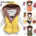 2016 Venda Quente de Outono Mulheres Jaqueta de Algodão Sem Mangas Mulheres Inverno Casaco Com Capuz Casaco de Algodão Engrossar Mulheres Jaqueta MJ1