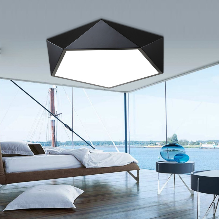 Led Ceiling Light Brief Modern Living Room Lamp Study Light