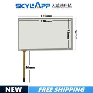 Сенсорный экран 5,4 дюйма, 136 мм * 82 мм, сенсорный экран, стекло PIONEER 054005, 136*81, сенсорное стекло, бесплатная доставка