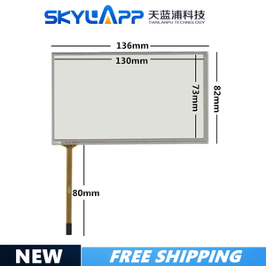 Image 1 - 5.4 inch 136mm*82mm touch screen DTP TPA0231 A PIONEER AVH P3200BT 054005 136*81 touchscreen GLASS free shipping
