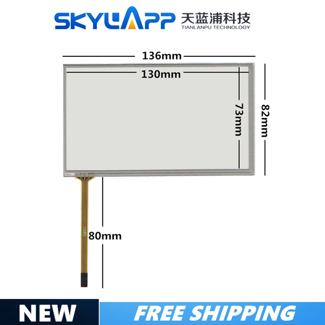 5.4 inch 136mm*82mm touch screen DTP TPA0231 A PIONEER AVH P3200BT 054005 136*81 touchscreen GLASS free shipping