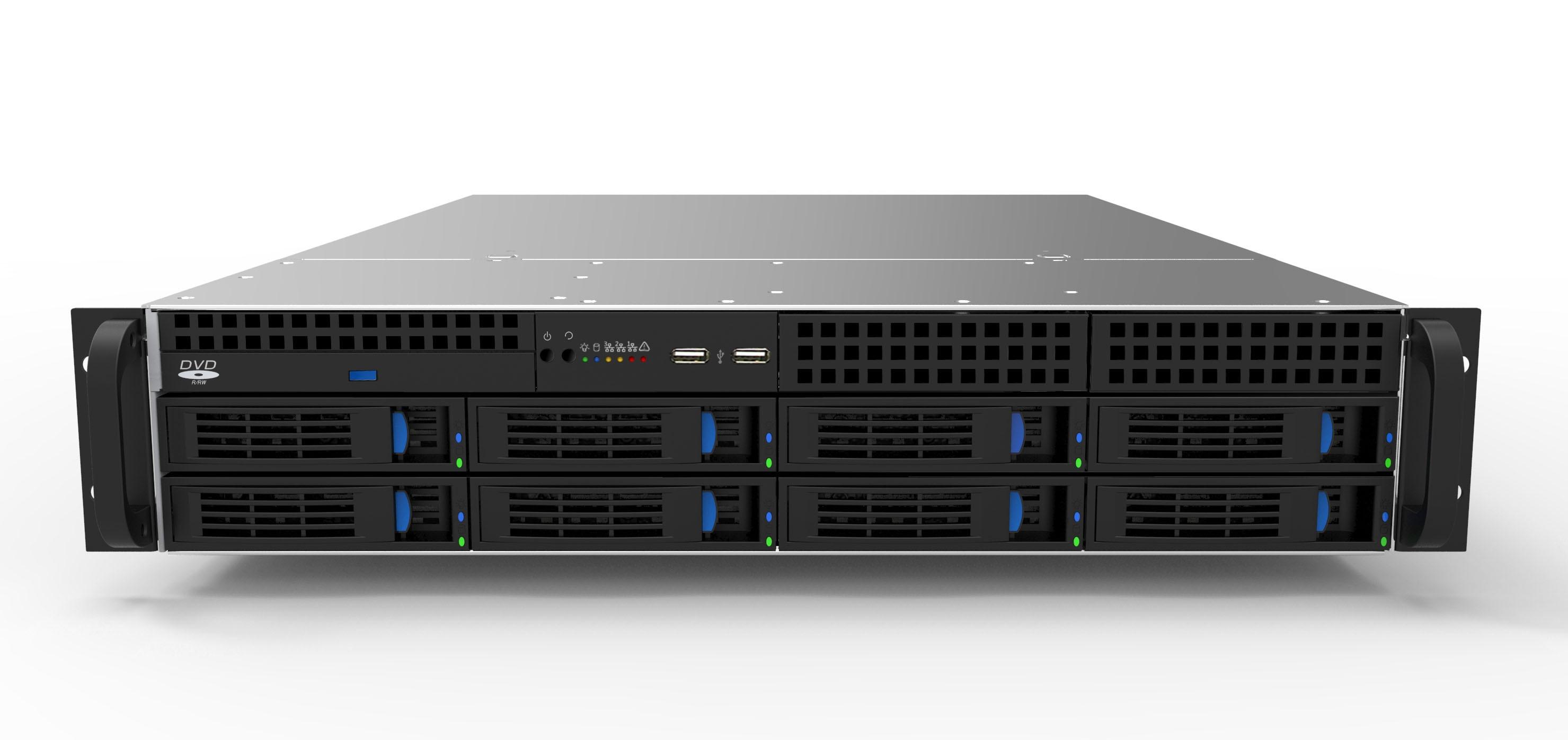 Boîtier 2U boîtier de prise chaude 8 boîtier de disque pour stockage de surveillance HD KTV stockage NSA stockage Cloud boîtier de stockage 4u