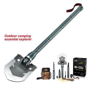 Image 1 - 2018 New upgrade Multifunctional outdoor shovel 304 stainless steel Adventure Camping Shovel Emergency combination tool