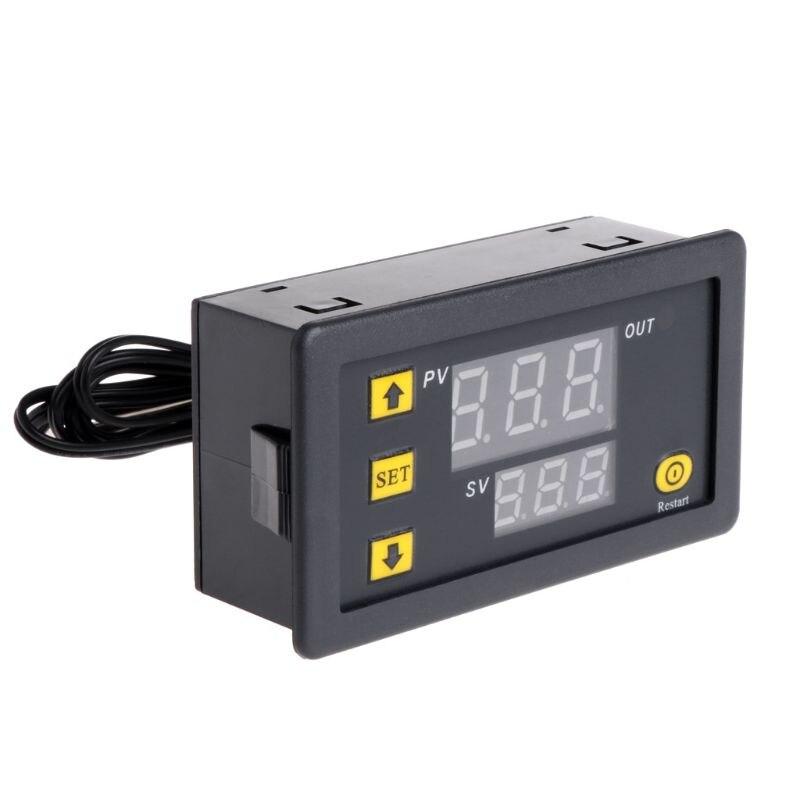 טמפרטורת בקר ממסר כפול דיגיטלי LED תצוגת חימום/קירור רגולטור תרמוסטט מתג 'lrz