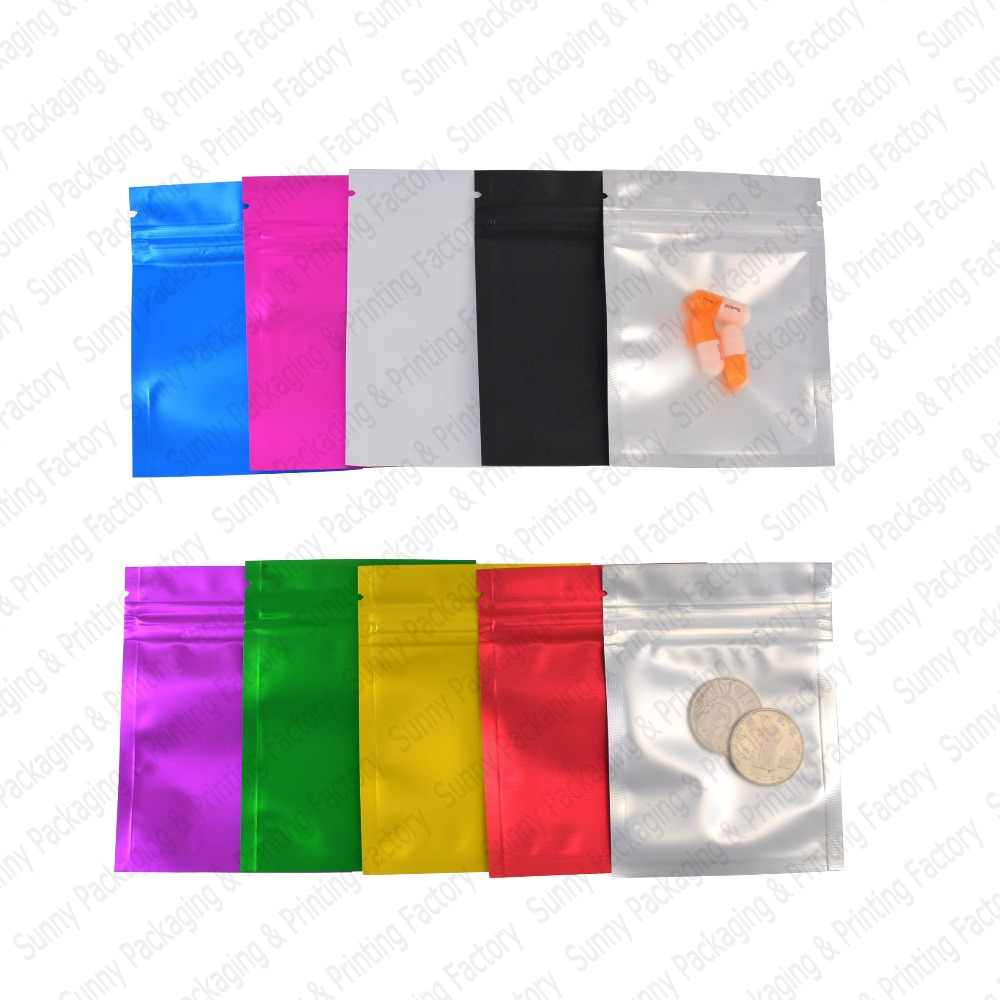 100 pcs Matte Colorful and Transparent Zip lock Bags colored & clear zip lock pouches bags  Food Pouches free shipping