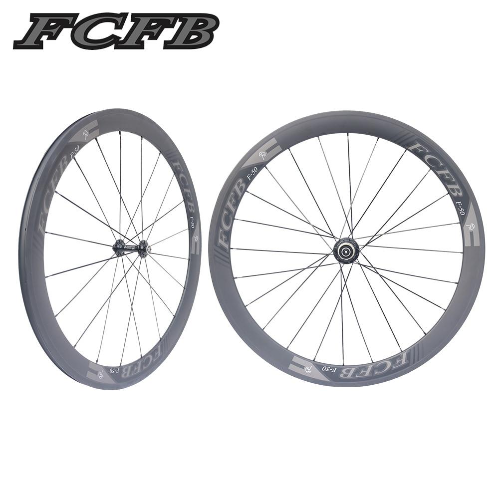 2017 FCFB 700C Racing Bicycle Carbon Wheels FASTACE RA209 Hubs 23 50mm depth Clincher UD matt Road Bike Carbon Bicycle Wheelset 2017 fcfb road carbon wheels 700c f50