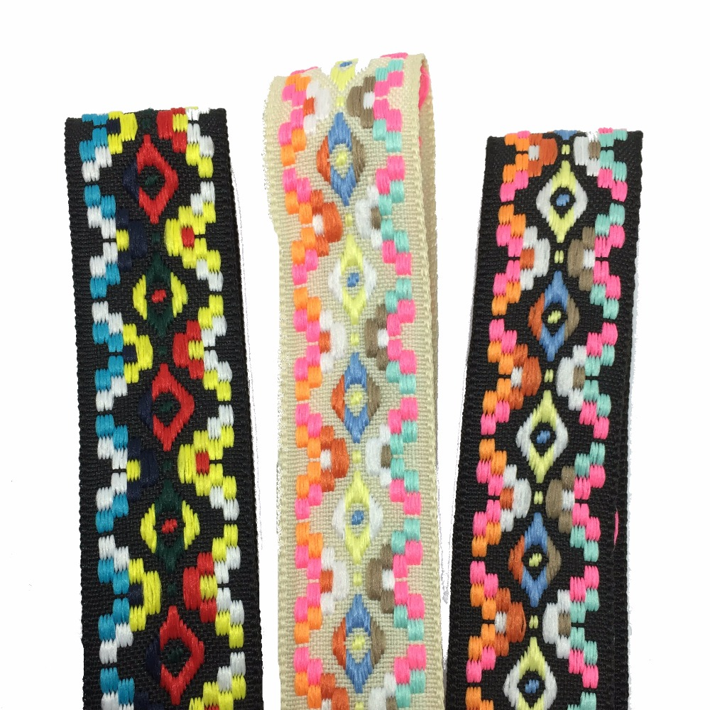 ZERZEEMOOY 2017 NEW 7 8 39 39 25mm 10yard lots 100 polyester Woven Jacquard Ribbon Zakka Handmade mix color geometry DOG RIBBON in Ribbons from Home amp Garden
