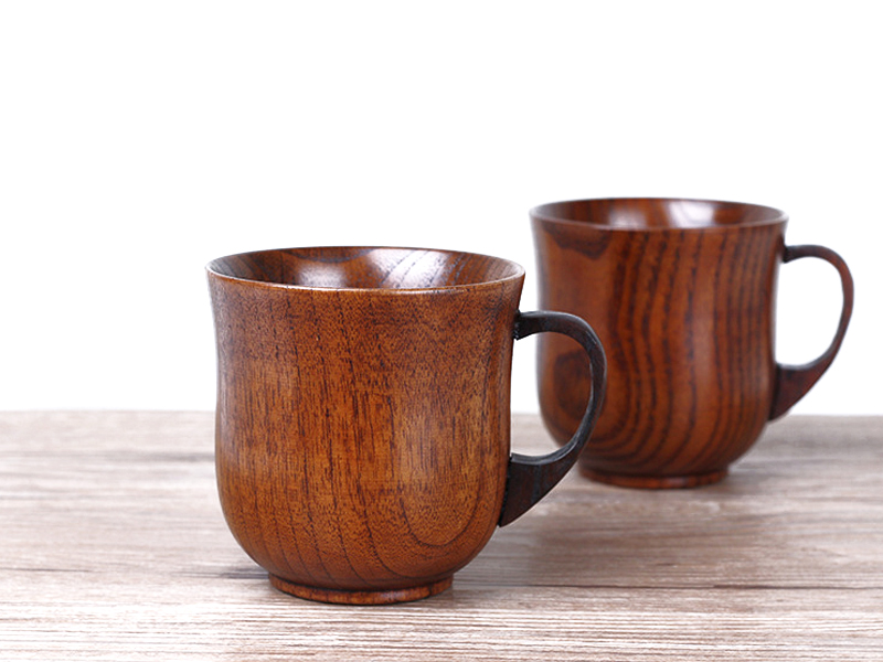 250ml Jujube Wood Mug Japanese Style Wooden Tea Cups with Handgrip Hand-made Wood Cups for Coffee Milk Home Bar Drinking Cups (7)