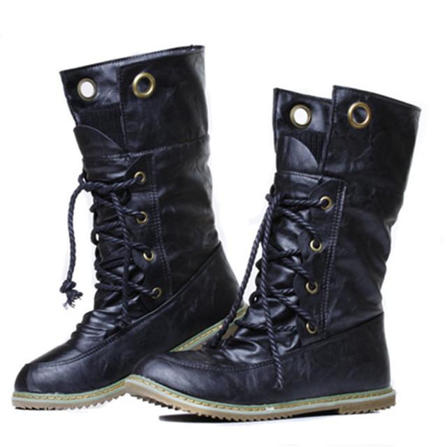 2016 mujeres del invierno botas de nieve calientes punta redonda zapatos planos cómodos botines de moda femenina popular al por mayor DGT674