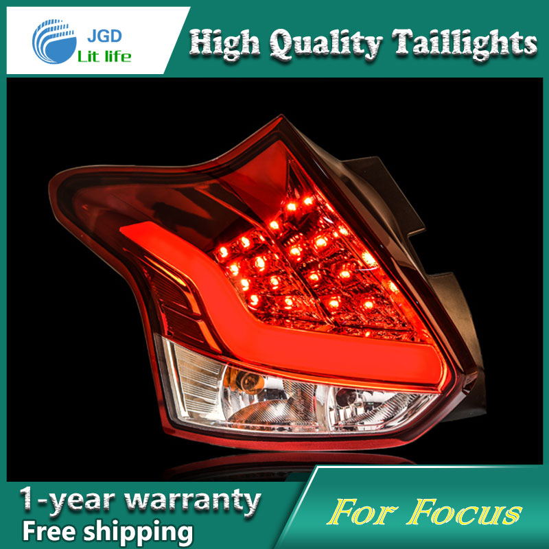 цена Car Styling Tail Lamp for Ford Focus 2012 taillights Tail Lights LED Rear Lamp LED DRL+Brake+Park+Signal Stop Lamp