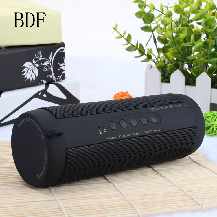 (Without Box) BDF T2 Mini Portable Wireless Column Receiver Outdoor Waterproof Super Bass Bluetooth Speaker For All Mobile Phone