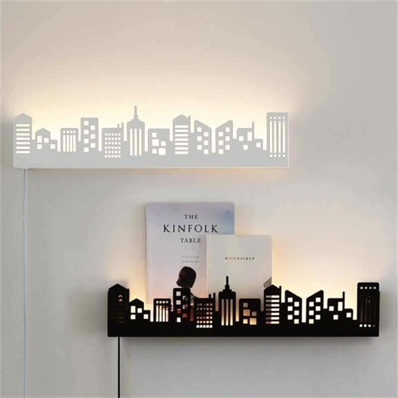 2017 Modern surface mounted led wall lights for bedroom study room metal+Acrylic home Art decoration led wall lamp black /white led wall lights acrylic modern living room bedroom home decoration wall lamp for bedside bedroom restroom wall mounted wall lamp