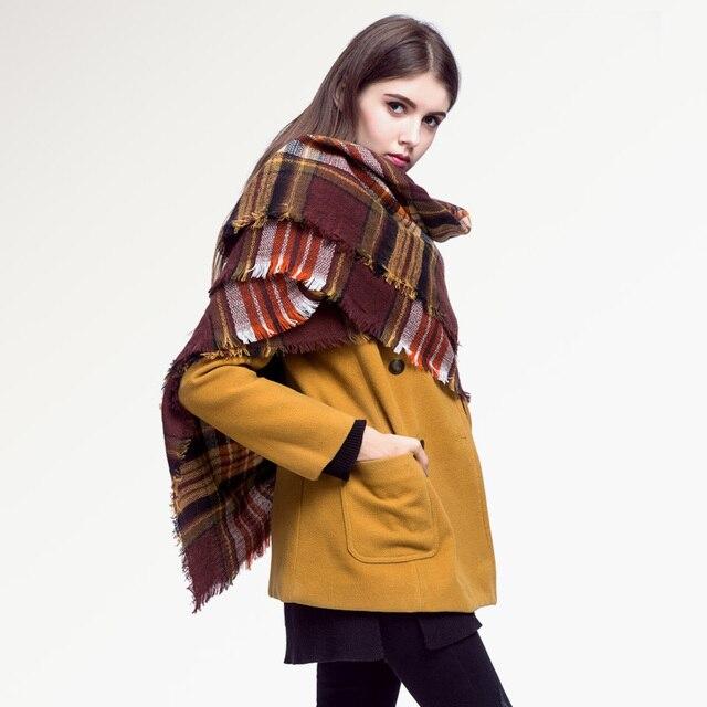 [ VIAONS ] 2015 новые шарф зима женщин мода люксовый бренд плед шарф женский VS004