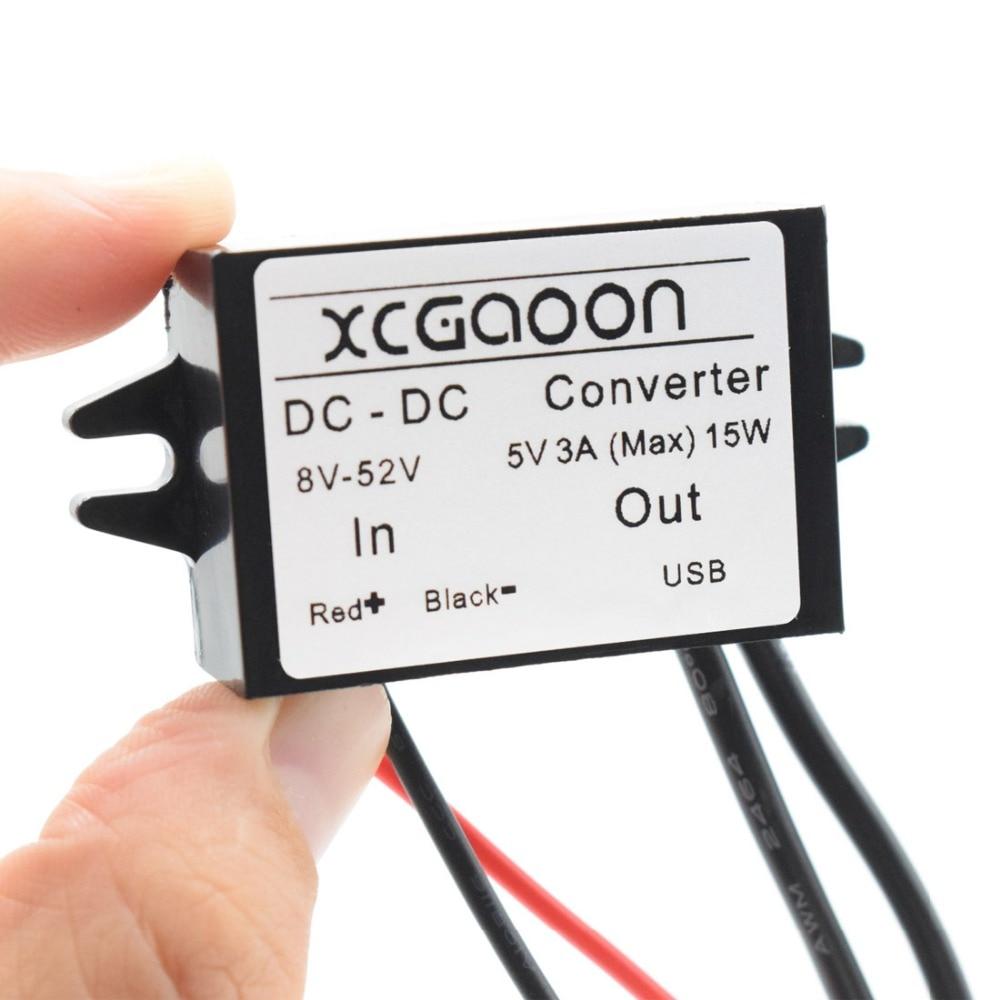 XCGaoon Dual 2 USB DC-DC Auto Converter Module Kabelingang DC 12V 24V - Auto-elektronica - Foto 4