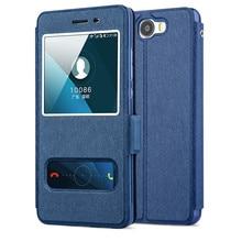Huawei Y5 II Case Высокое Качество Окно PU Leather Case For Huawei Y5 II/Huawei Y6 II Compact С Телефон Веревку #0404