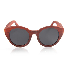BOBO BIRD New Red Wood Wood Sunglasses Women Wooden Sun glasses for Ladies With Bamboo Box C-AG013a