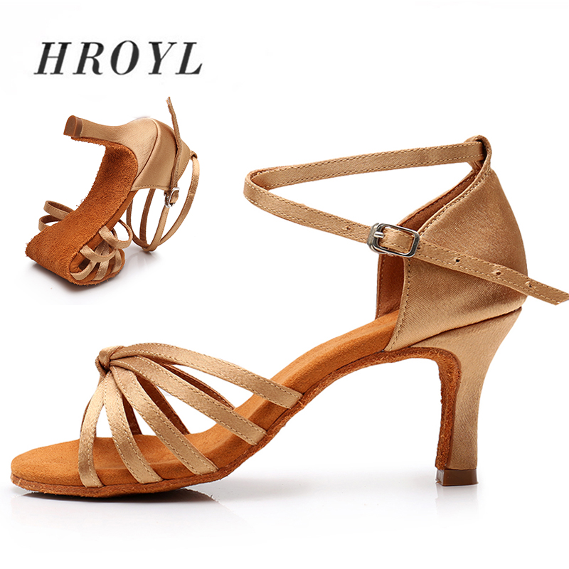 Hot selling Women Professional Dancing Shoes Ballroom Dance Shoes Ladies Latin Dance Shoes heeled 5CM/7CM 8 colour EU34 42-in Dance shoes from Sports & Entertainment on AliExpress