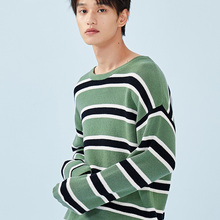 SEMIR Striped Sweater for Men Men's Ribbed-Knit Sweater Pull