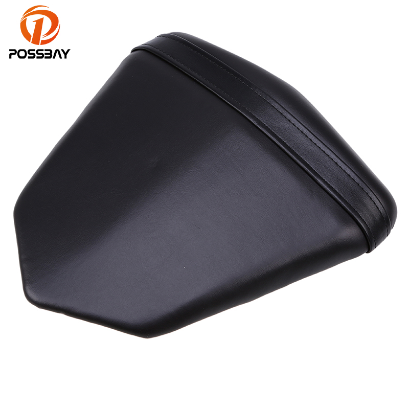 POSSBAY Leather Motorcycle Rear Seat Pillion Cover Scooter Passengers Cushion Seat for Yamaha YZF R6 2006-2007 Scooter Seat Pad