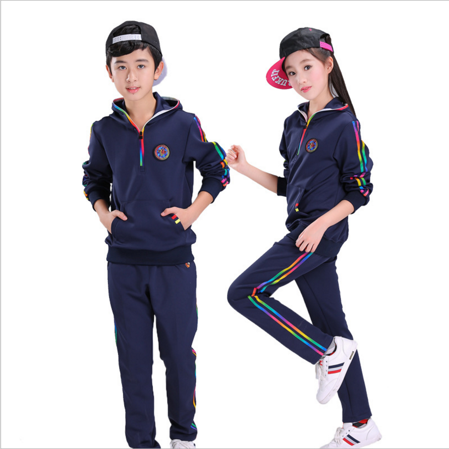 ФОТО Boys & Girls Clothes Set Children's Sport Suits Children Clothing Set School Clothing For Spring And Autumn 2017 New