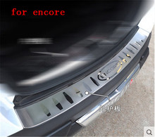 Car outside stainless steel Rear Bumper Protector Sill Trunk Tread Plate Trim for buick encore 2013 2014 2015 2016 Car styling car styling case for hyundai tucson 2015 2016 stainless steel rear bumper protector sill plate 1pcs car styling accessories