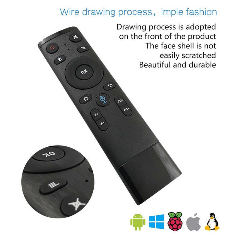 Điều Khiển bằng giọng nói Bay Air Mouse Cho Con Quay Hồi Chuyển Cảm Biến Trò Chơi năm 2.4GHz Không dây Điều Khiển từ xa Cho TV Thông Minh, android Box PC