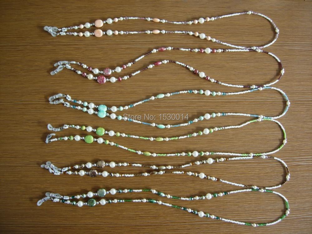 handgjorda glasögon vibrerande färgade pärlkedjehållare - Kläder tillbehör - Foto 1