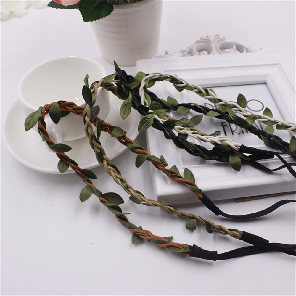 Silk Garland Green Leaf Artificial Flower Vine Rattan For Wedding Car Valentine's day Decoration DIY Wreath Flowers