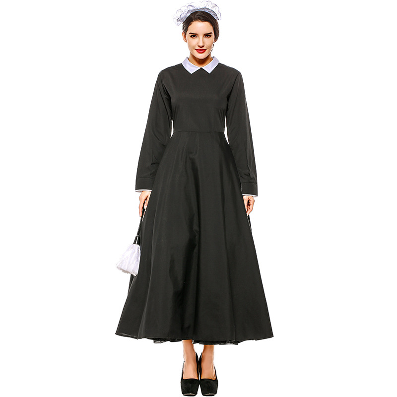 Adult Victorian Maid Poor Peasant Servant Fancy Dress French Wench Manor Maid Costume Outfit in Holidays Costumes from Novelty Special Use