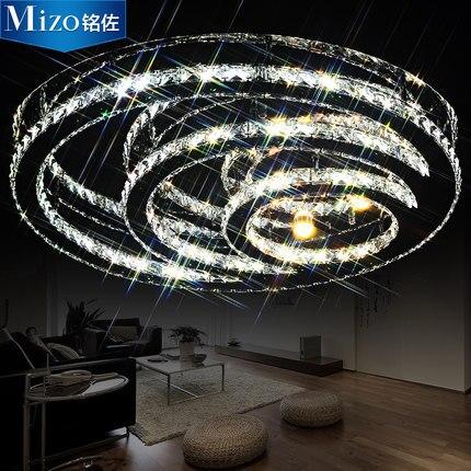 Modern brief living room lights circle led crystal lamp ceiling light bedroom lights lamps