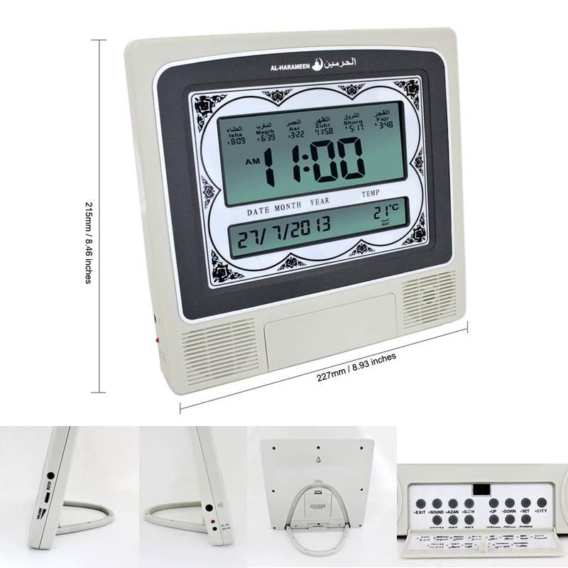 New Super Azan Desktop Clock Muslim All Prayers 1500 Cities Muslim Azan Clock Desk Clcok Multifunctional