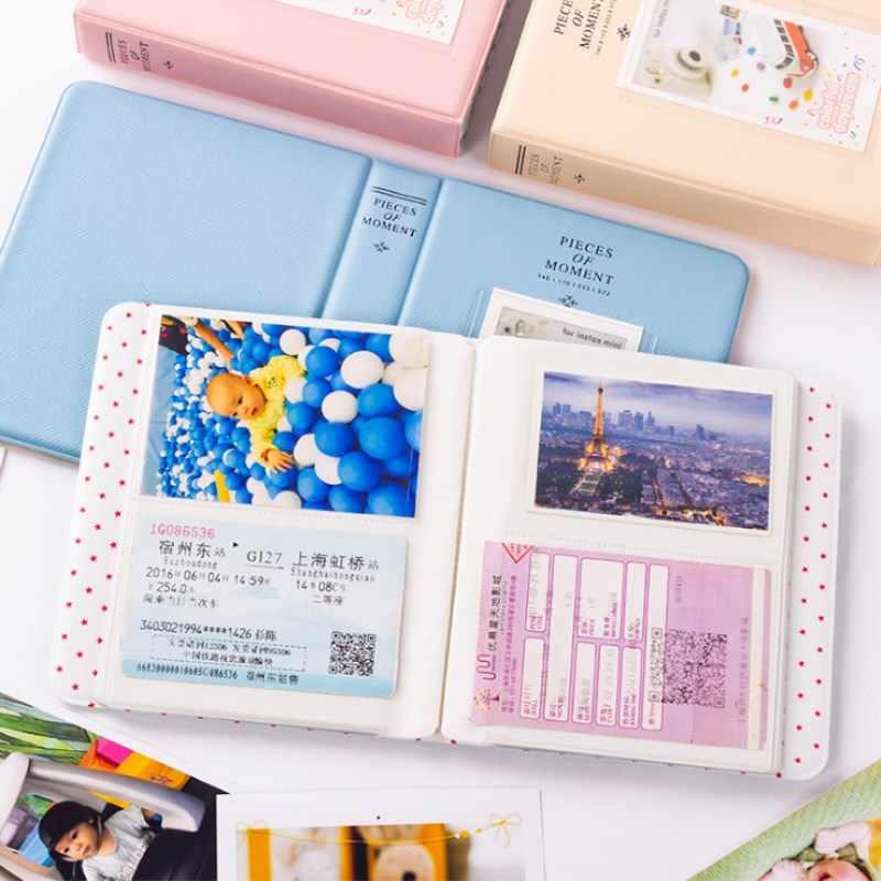 64 Pockets Polaroid Photo Album Mini Instant Picture Case Storage For Fujifilm Instax Mini Film 8 Korea Starry Album Fotografia