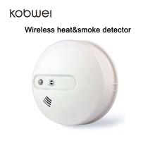 Warmth sensor and smoke sensor 2-in-1 433MHZ wi-fi smoke&warmth detector battery powered
