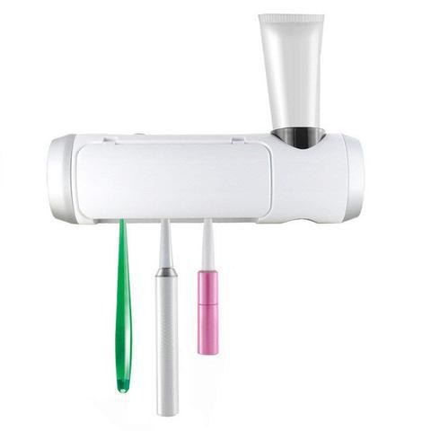 fixado na parede uv escova de dentes esterilizador titular ventilador secagem escova de dentes recarregavel