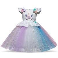 2019 Princess Dresses For Girls 18m 24m 3 4 5 6 Year Infantil Toddler Clothes Little Baby Girl Dress Rainbow Kids Dress Clothing