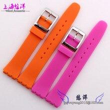 Multicolor silicone | pulseira de borracha à prova d ' água substituto garfo 17 | 19 mm pulseira de silicone