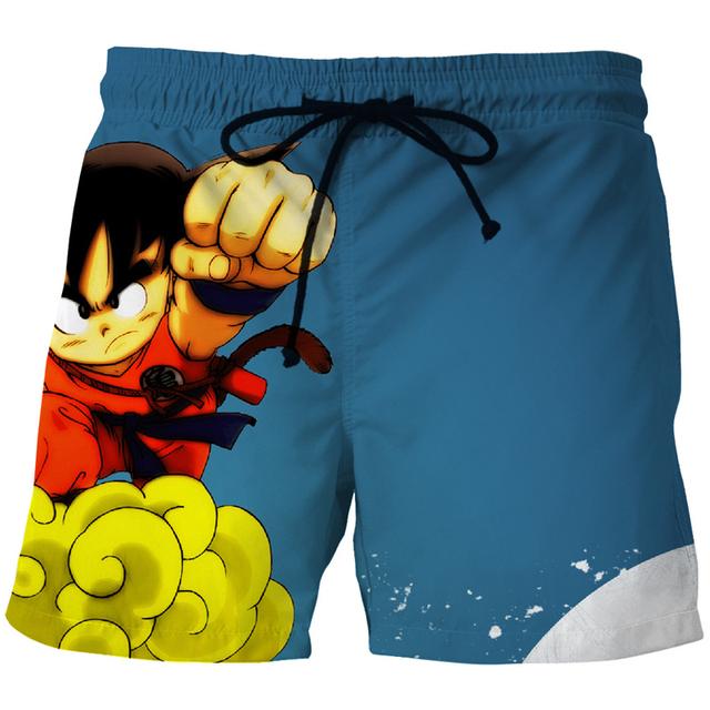 Cloudstyle 2018 Anime Dragon Ball 3D Shorts Men Kid Goku 3D Print Board Shorts Casual Fashion Summer Vacation Beach Shorts
