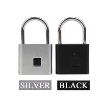 Fingerprint electric lock USB rechargeable intelligent keyless IP65 waterproof anti-theft security padlock door luggage lock