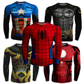 2016 Autumn New Fashion Fitness Compression Shirt Men Superman Captain America Batman Spiderman Iron Man tshirt Gentle Clothing